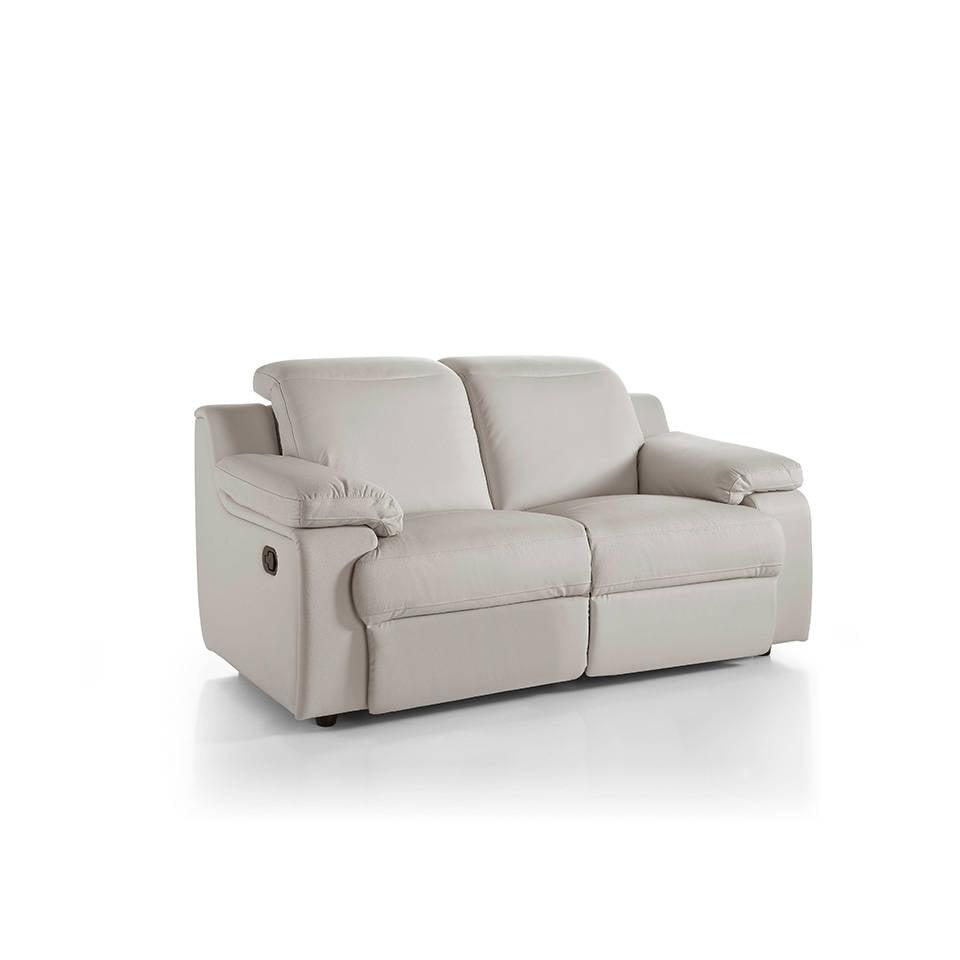 Sofá 2 plazas tapizado con dos mecanismos relax abatibles y apoyacabezas regulables