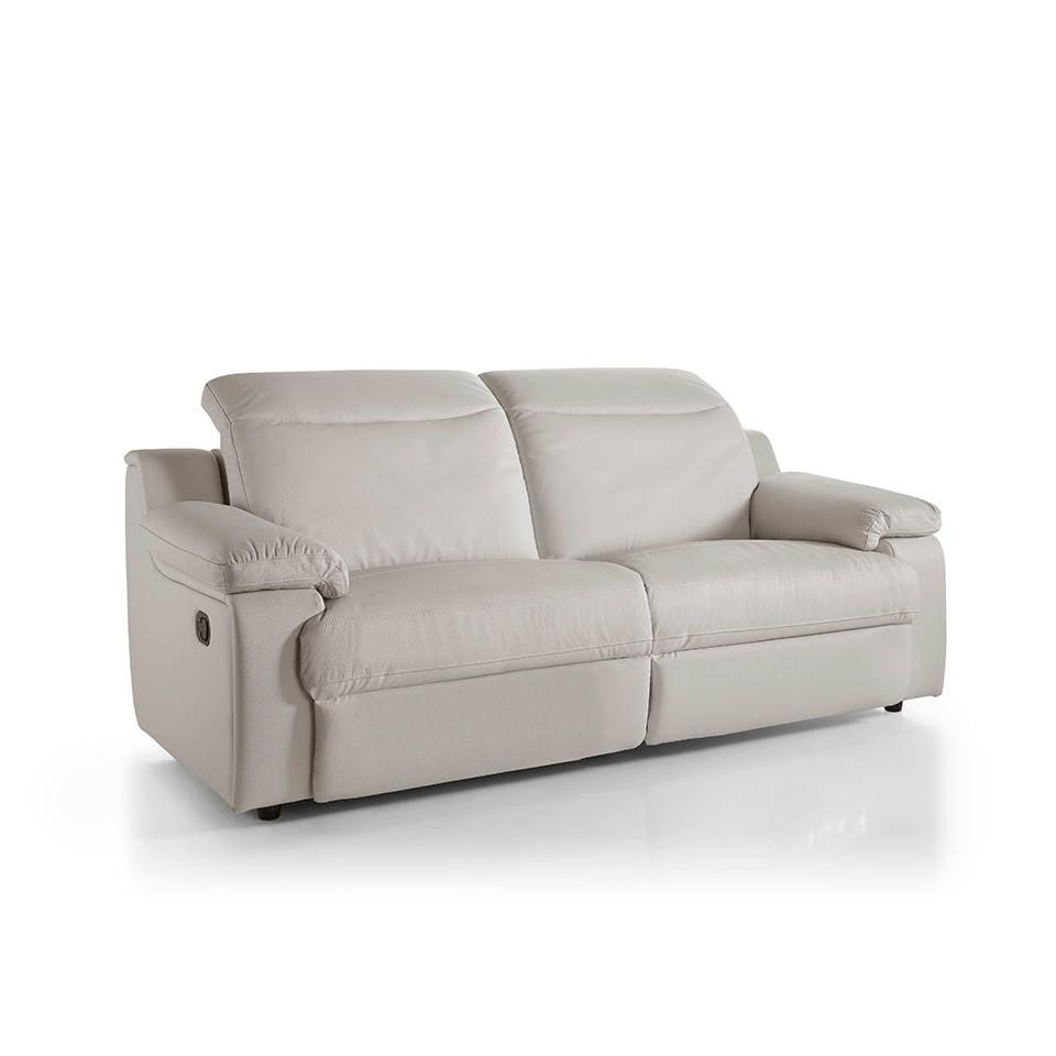 Sofá 3 plazas tapizado con dos mecanismos relax abatibles y apoyacabezas regulables
