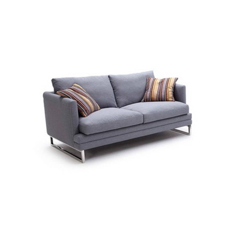 Sofá 2 plazas tapizado con patas de acero inoxidable