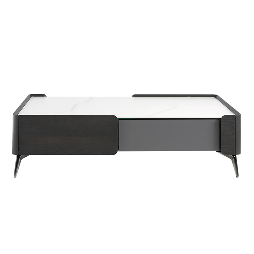 Wenge wood coffee table and porcelain marble