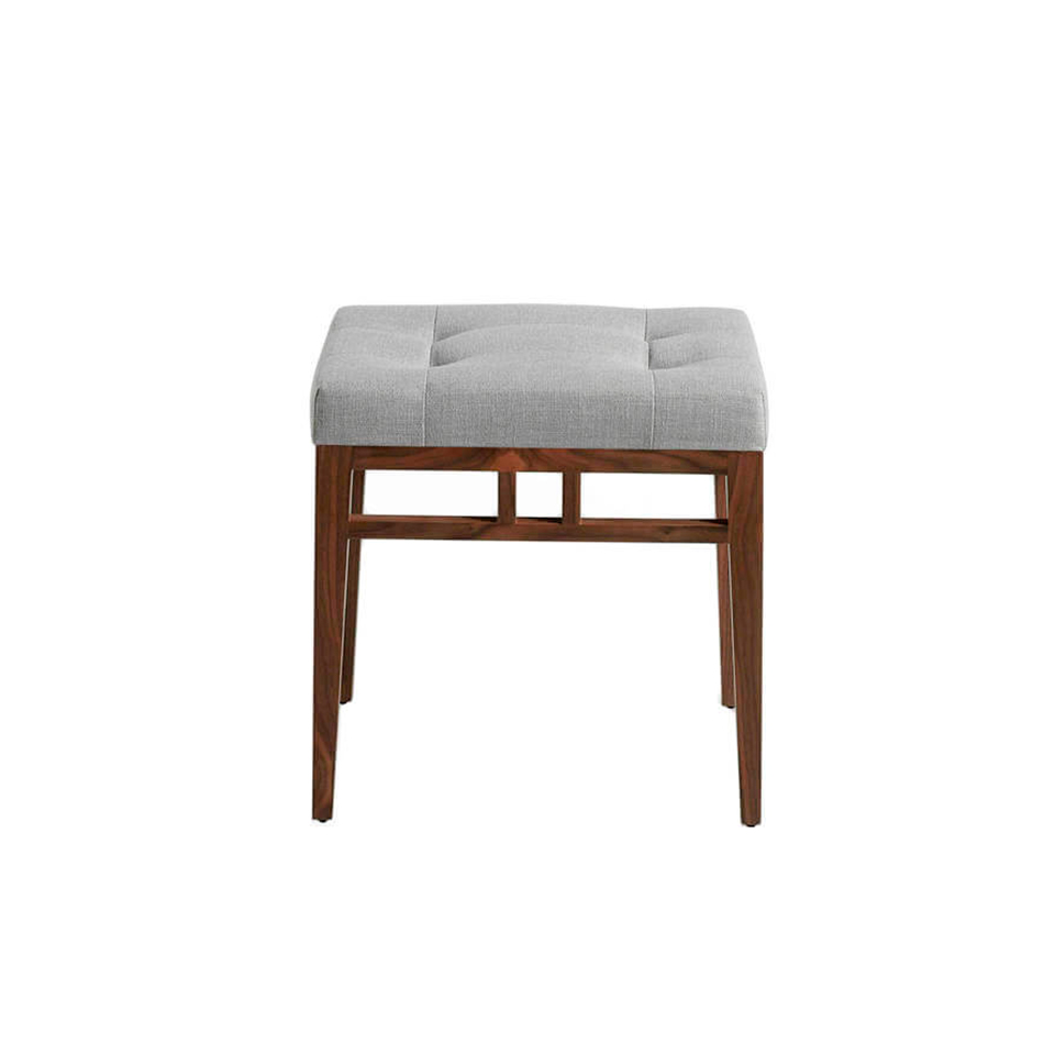 Upholstered bench in fabric and Walnut wood