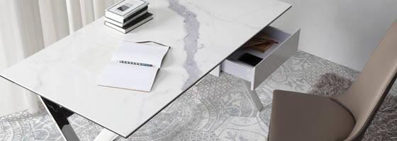 Privatbereich designerm bel angel cerd for Tischplatte marmoroptik
