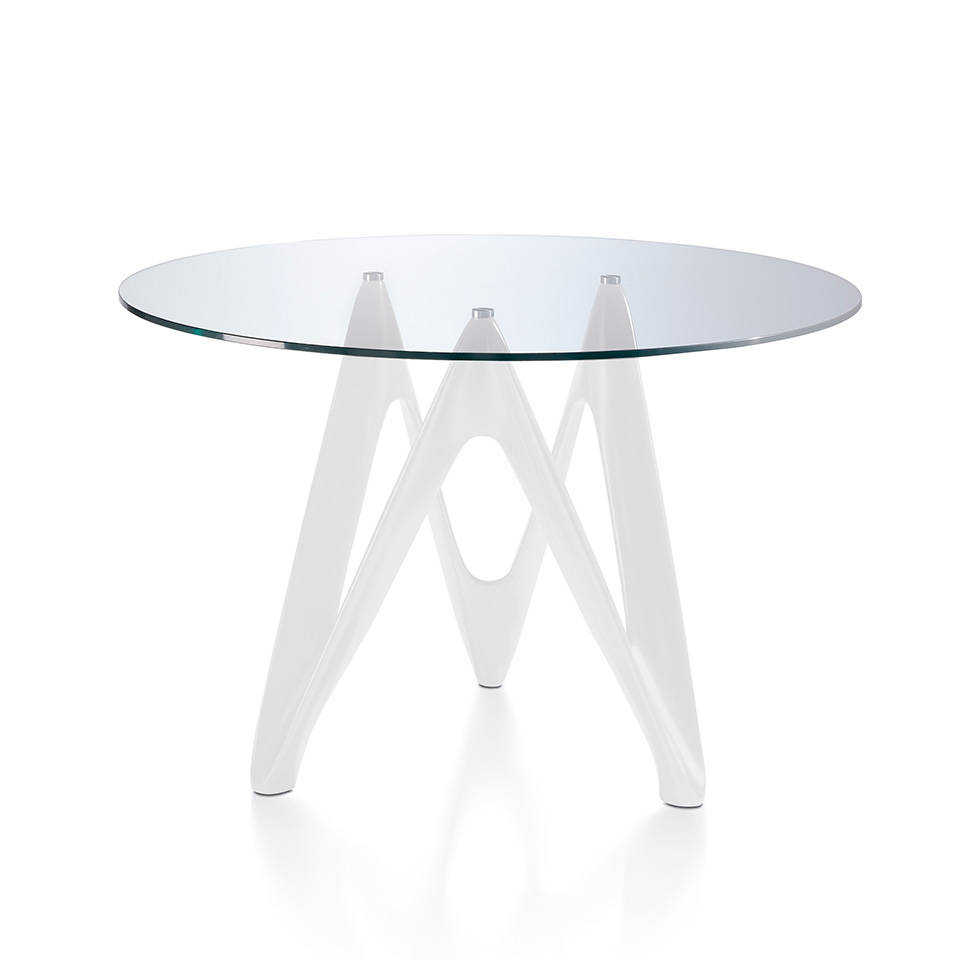 Dining table with fiberglass base