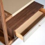 Walnut veneer solid wood bookcase
