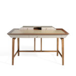 Solid wood walnut veneer desk