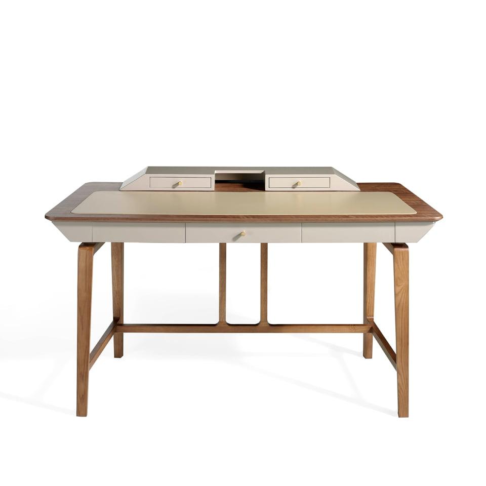 Solid wood walnut veneer desk