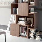Walnut colored wooden shelf