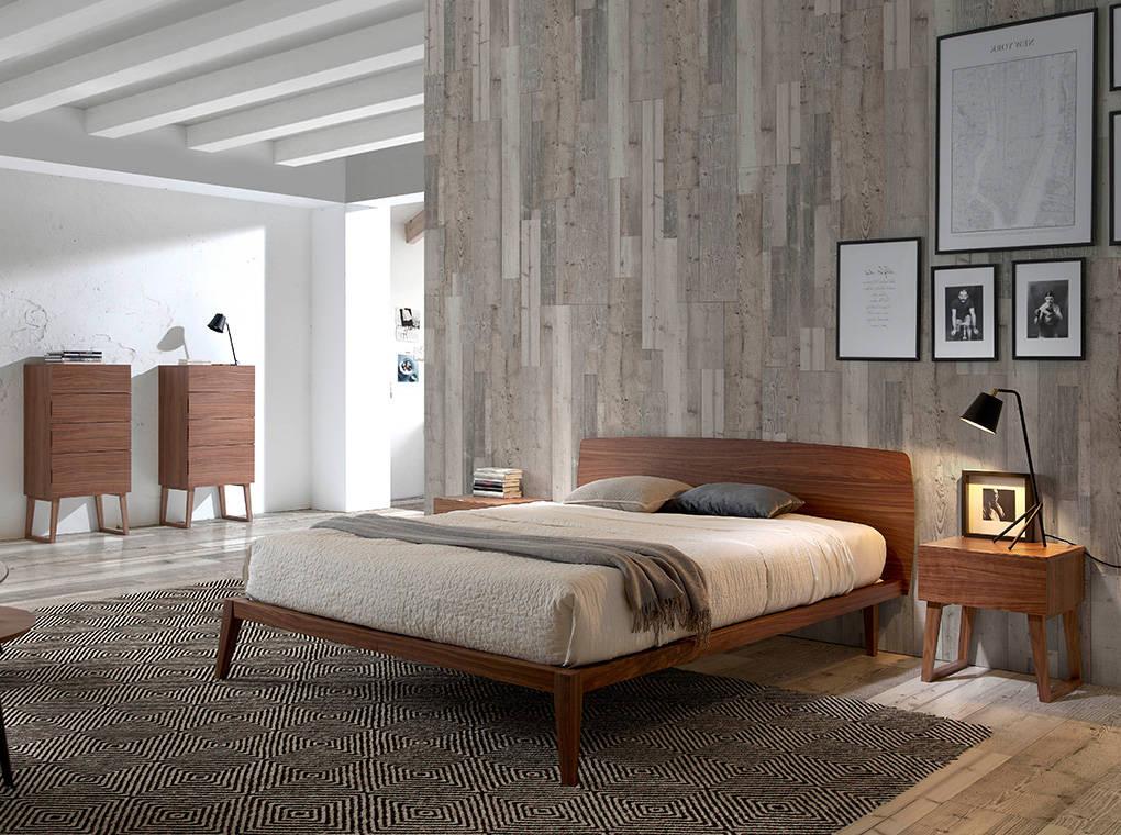 Letti Di Design In Legno : Letto in legno impiallacciato noce mobili di design angel cerdá