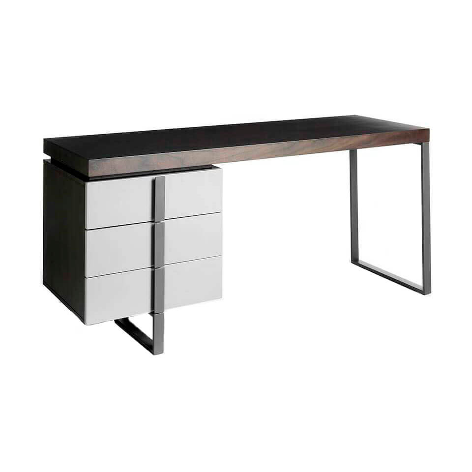 Office desk with lacquered DM side drawer
