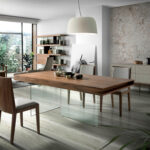 Niebla wooden sideboard and Walnut wood legs