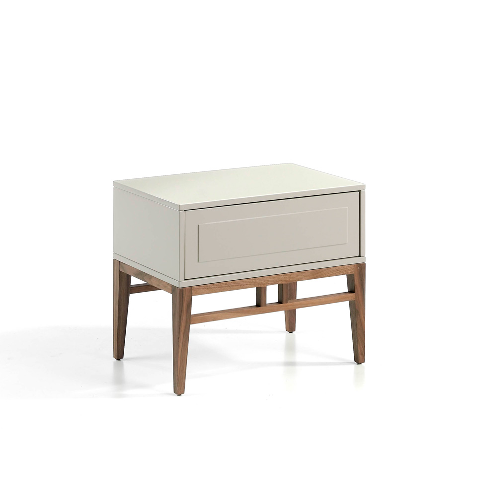Niebla and Walnut wood nightstand