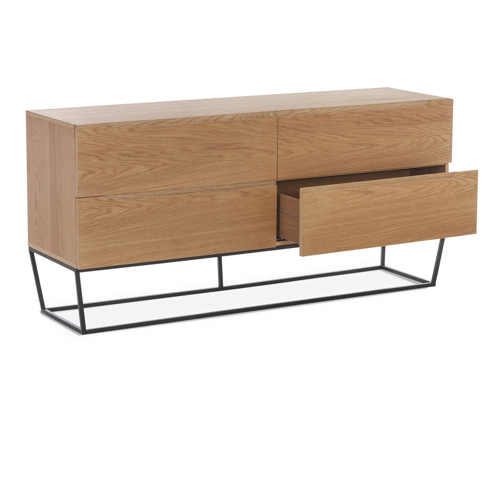 commode m tallique et fa ade en ch ne angel cerd s l. Black Bedroom Furniture Sets. Home Design Ideas