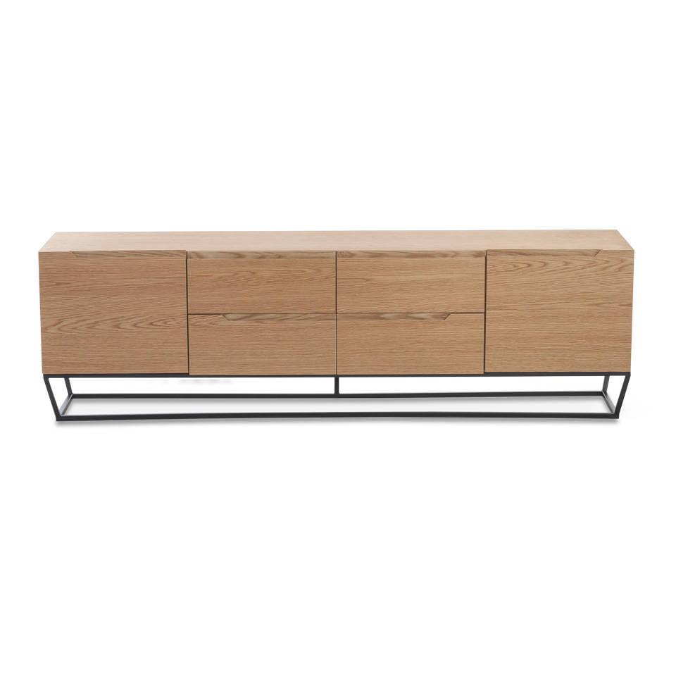 tv board aus metall mit eichenfurnier angel cerd s l. Black Bedroom Furniture Sets. Home Design Ideas