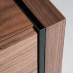 Chifonier made of walnut  veneered wood