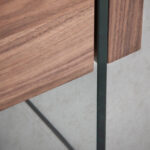 WNight table made of walnut veneered wood