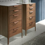 5-drawer chiffonier made of walnut-veneered wood