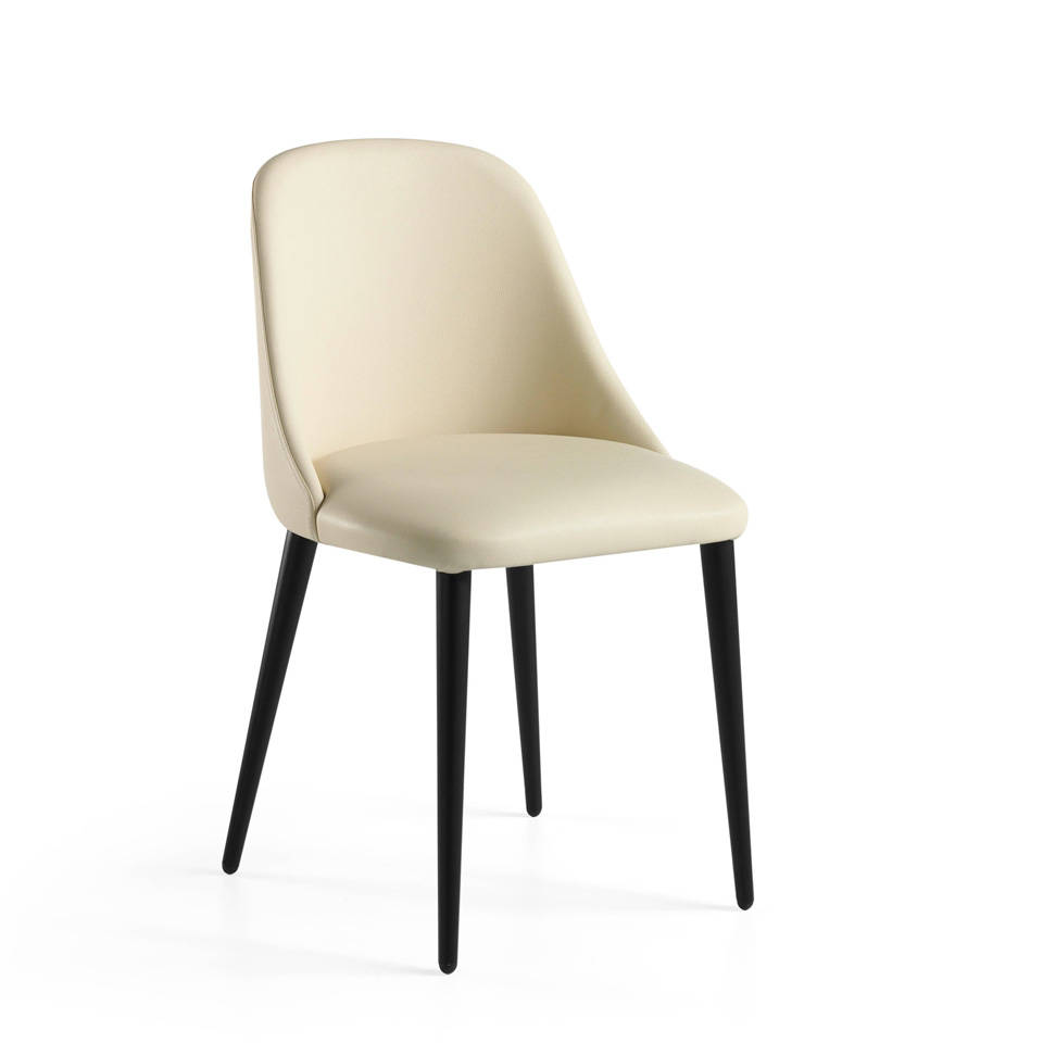 Chair upholstered poly leather