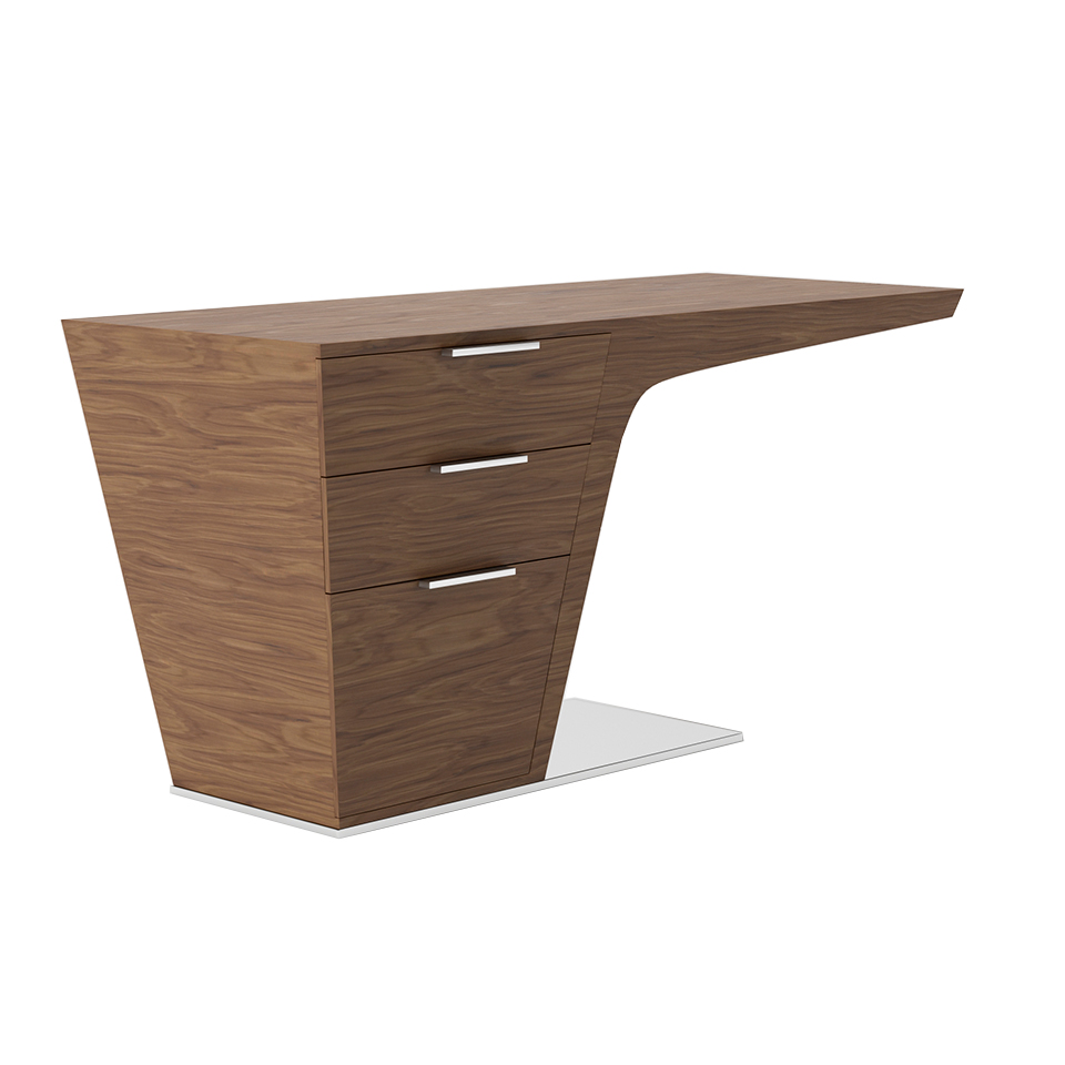 Walnut wood office desk