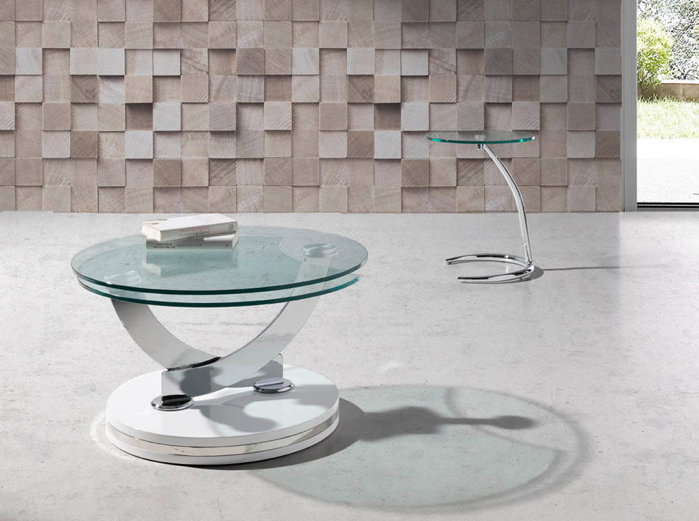 Coffee table with authomatic turning mechanism.