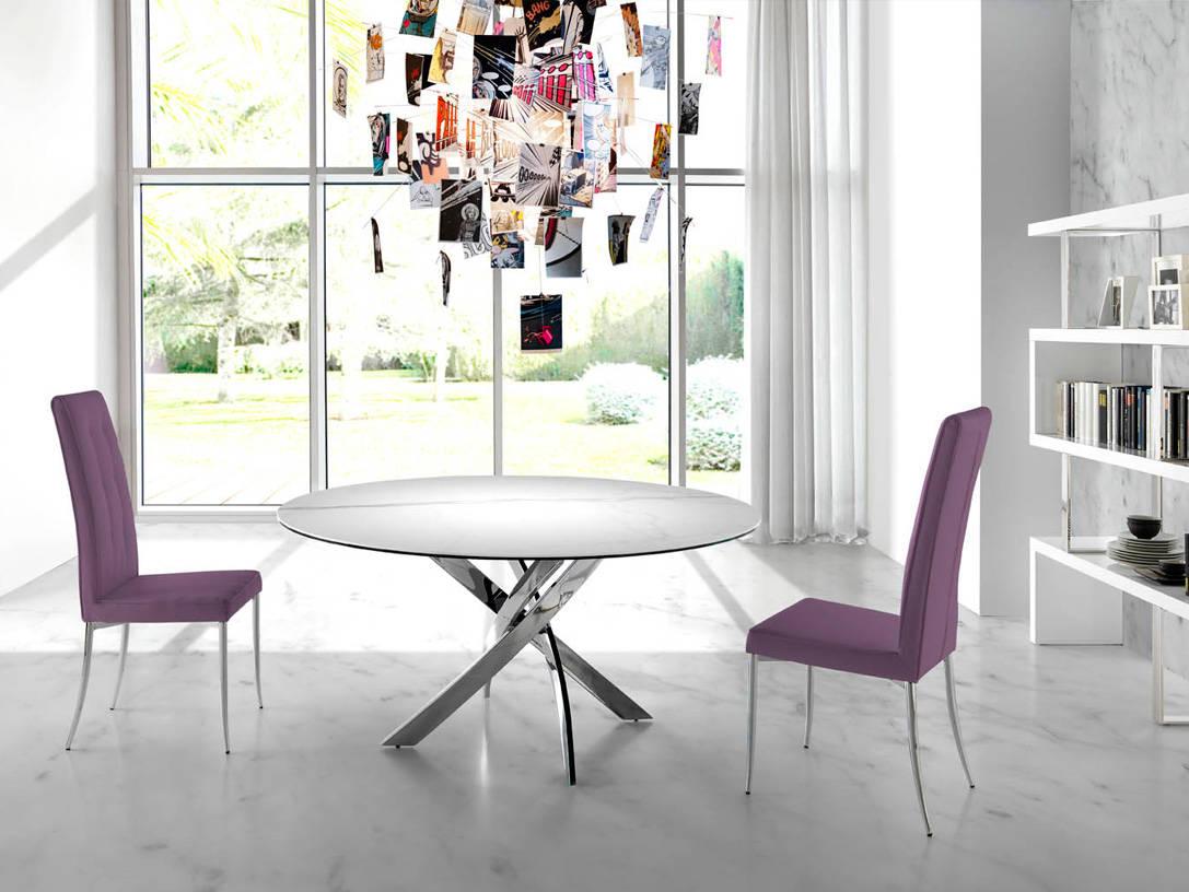 Mesa de comedor con tapa de m rmol porcel nico angel cerd s l - Mesa comedor porcelanico ...
