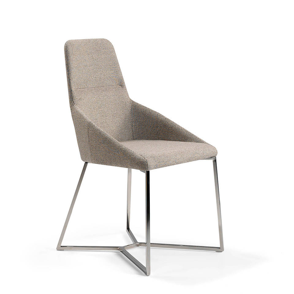 Swivel chair with stainless steel legs and seat...