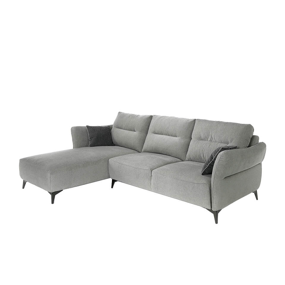 Chaise longue Sofa upholstered in fabric
