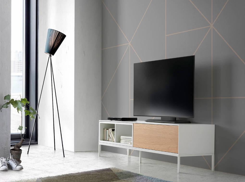 meuble tv structure en m tal avec 2 tag res angel cerd s l. Black Bedroom Furniture Sets. Home Design Ideas
