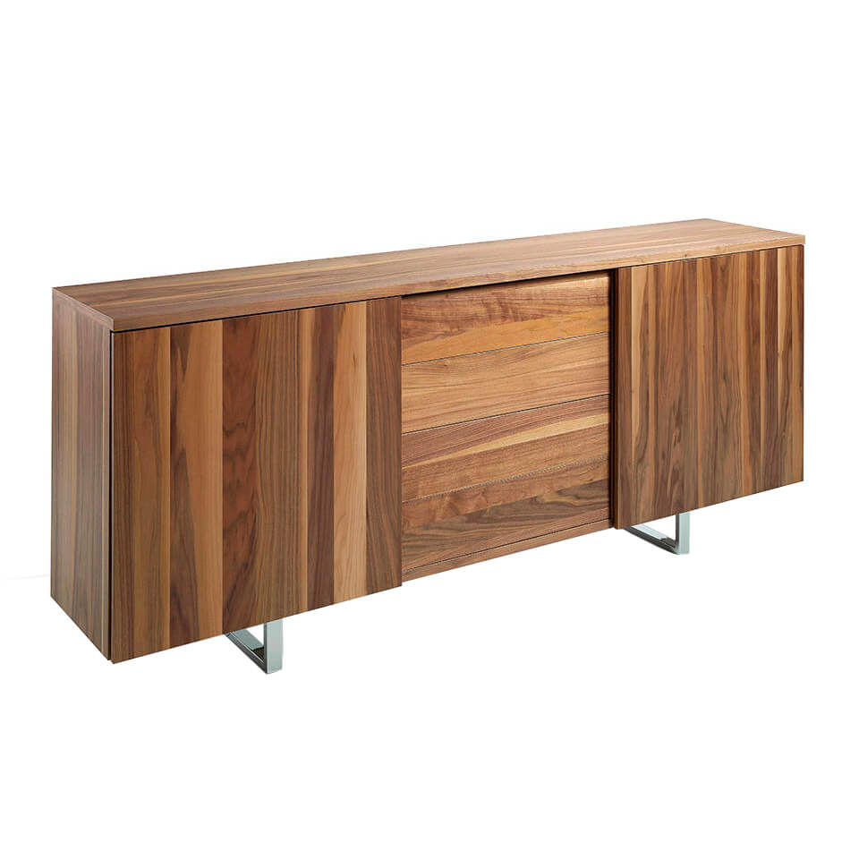 Wooden sideboard with Walnut veneer.