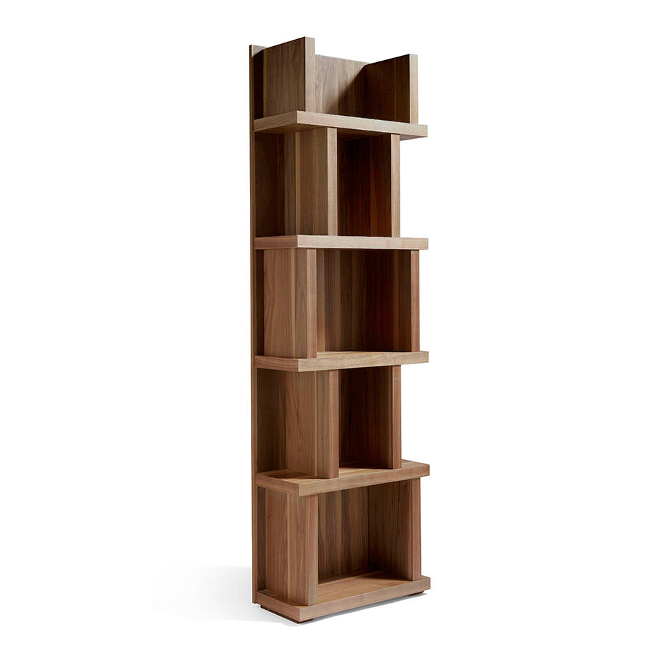 Wooden bookshelf with Walnut veneer