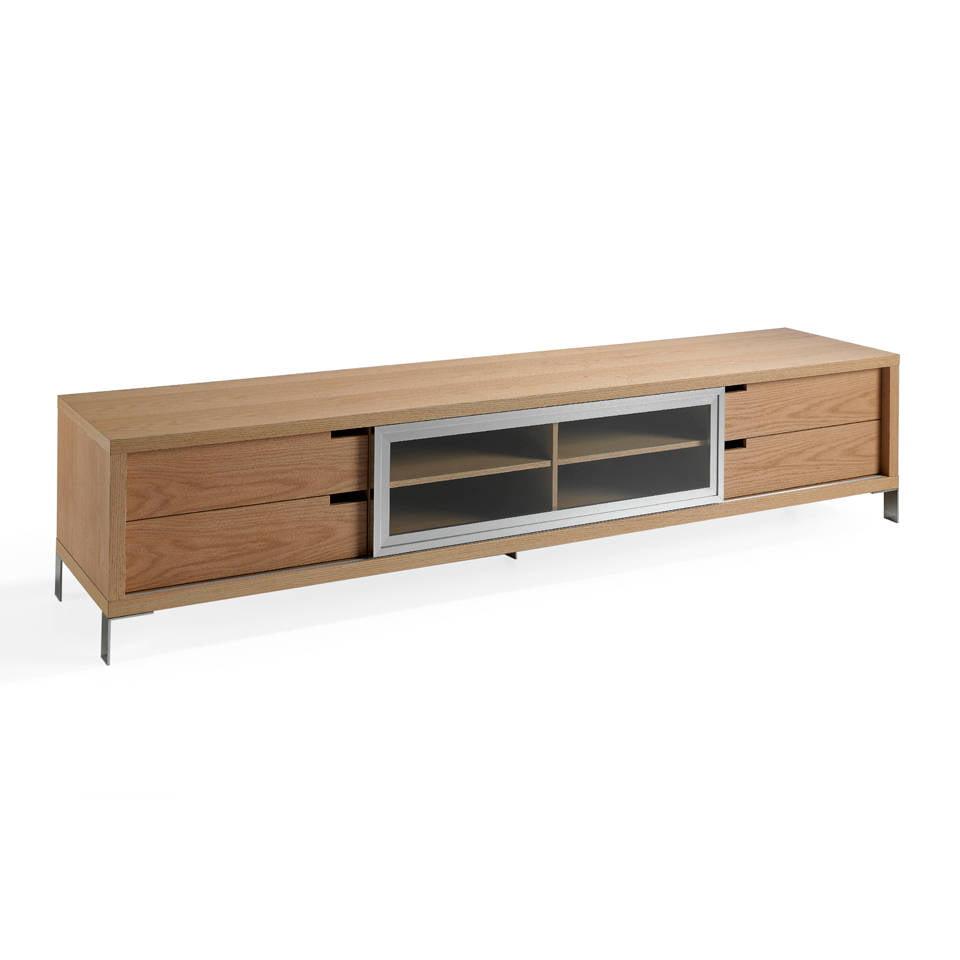 Mueble de TV de madera chapada en roble