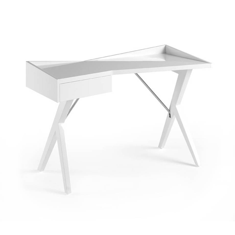 Office desk in laquered Mdf White