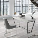 Pearl Gray wooden office desk