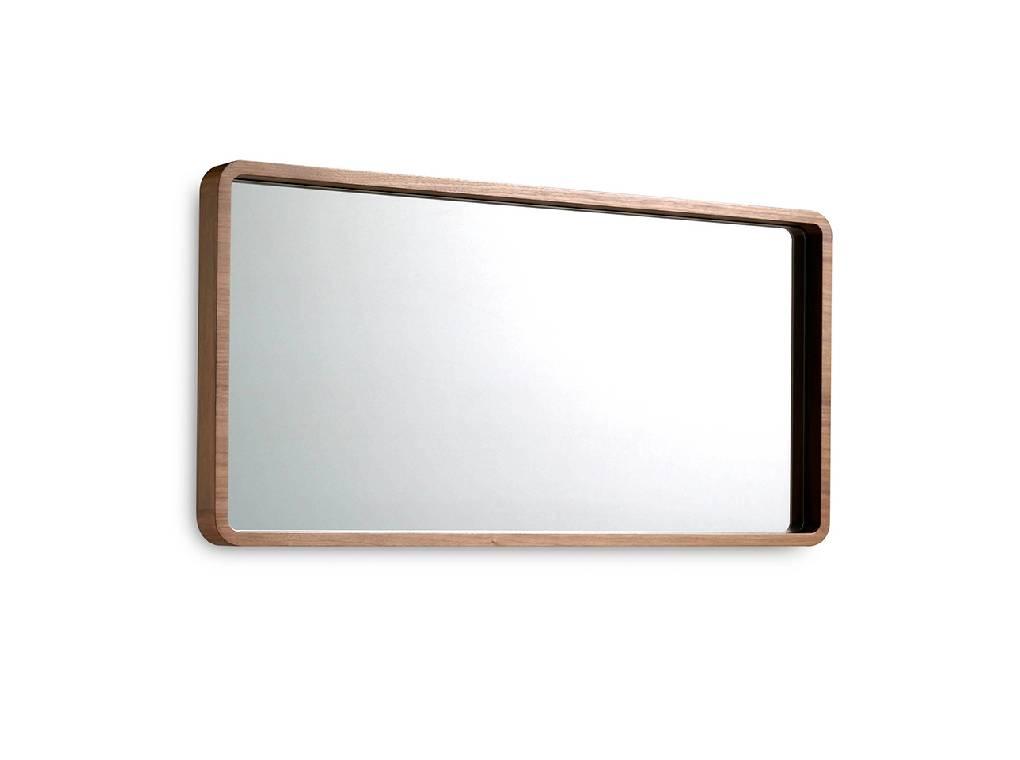 Espejo de pared fabricado en madera chapada en Nogal