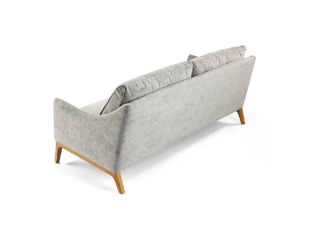 3 sitzer polstersofa mit holzf en designerm bel angel. Black Bedroom Furniture Sets. Home Design Ideas