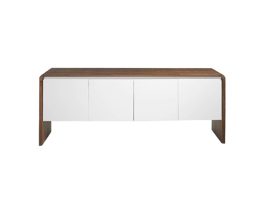 Walnut wood sideboard and White doors