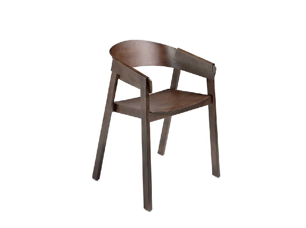 Walnut wood chair