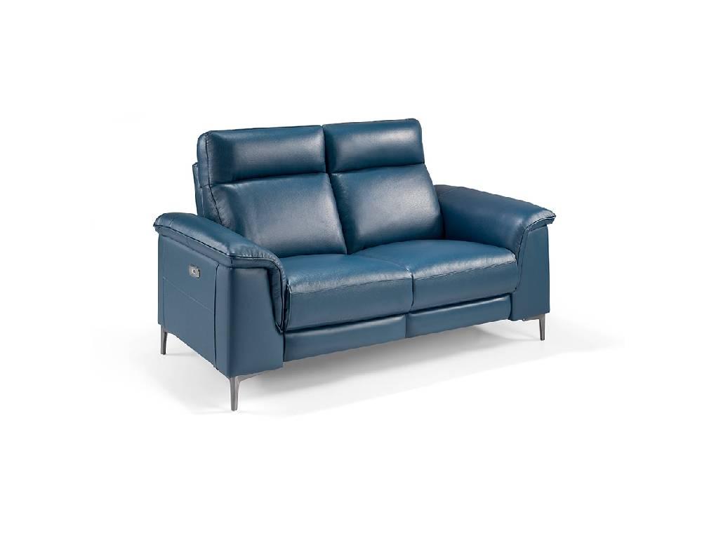 canap 2 places capitonn en cuir avec 2 x m canismes. Black Bedroom Furniture Sets. Home Design Ideas