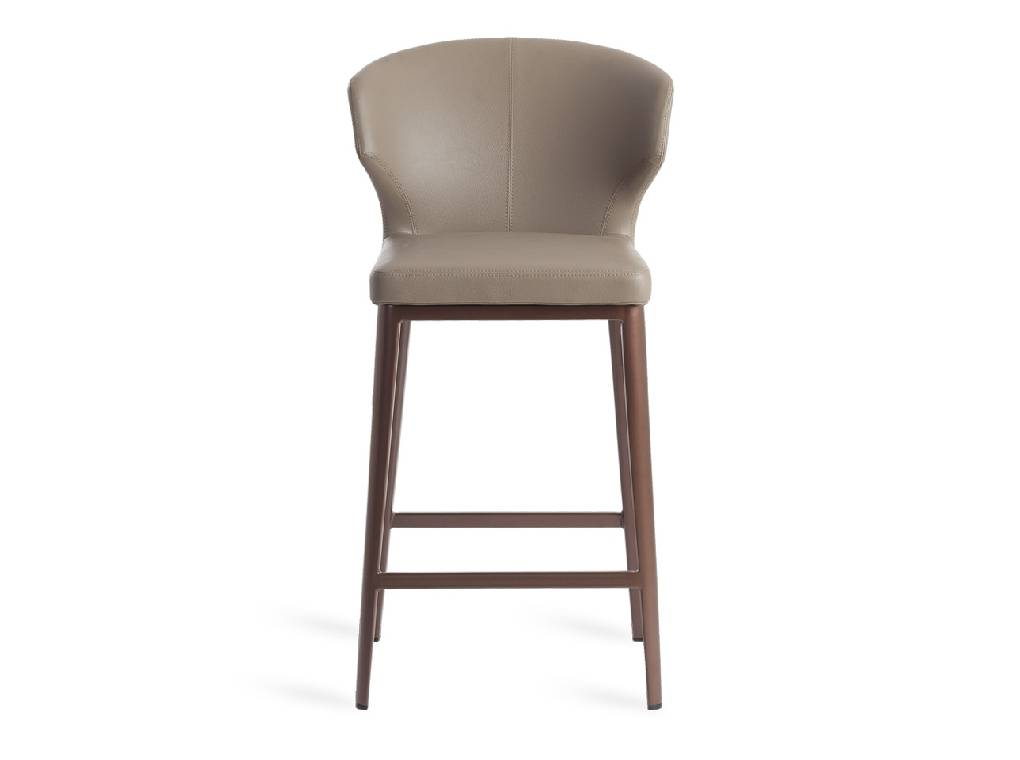 Upholstered stool with steel structure