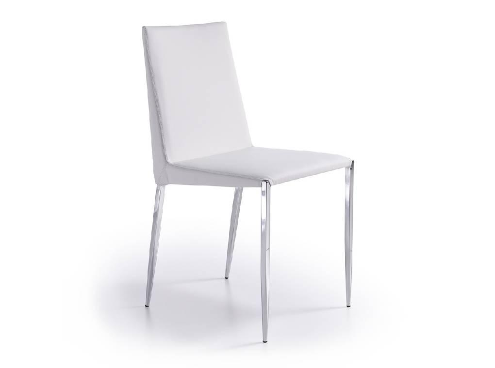Stuhl gepolstert f sse in edelstahl designerm bel for Stuhl gepolstert