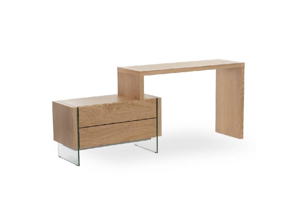 Bureau en bois plaqué en ch u00eane et c u00f4tés en verre Angel Cerdá, S L  # Bureau En Verre Et Bois
