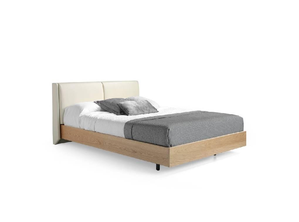 lit en placage de ch ne avec t te de lit rembourr e angel cerd s l. Black Bedroom Furniture Sets. Home Design Ideas