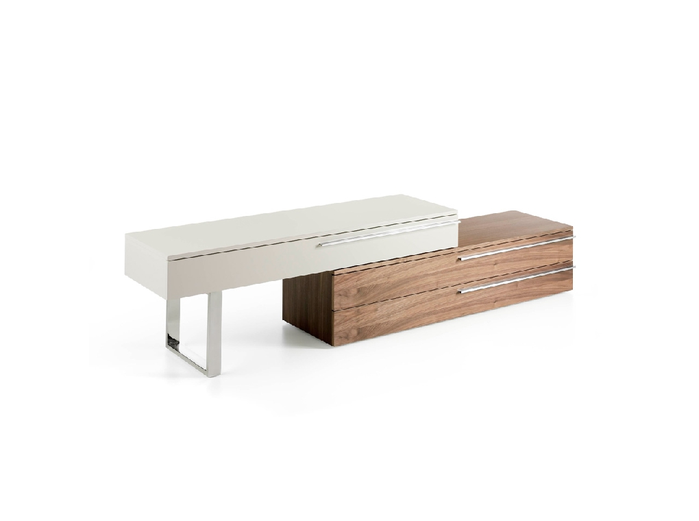 TV stand with leg and handles in stainless steel