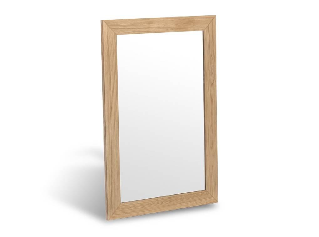 Espejo con marco fabricado en chapa de roble