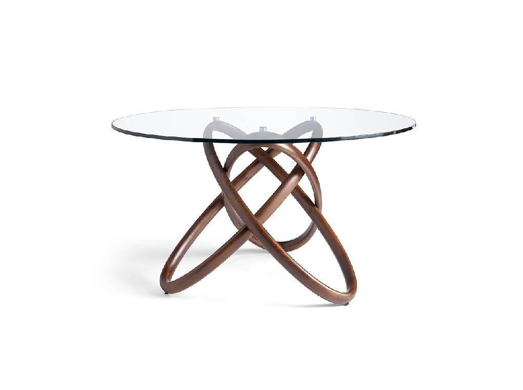 Solid wooden table with tempered glass cover