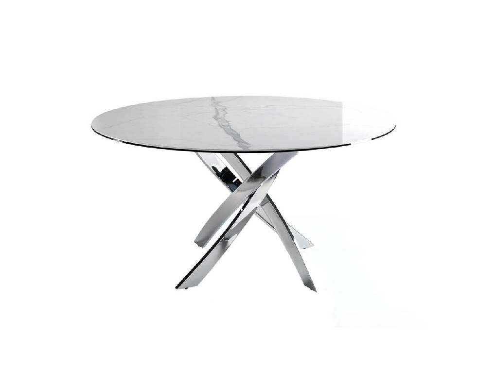table manger avec plateau en gr s marbr blanc angel cerd s l. Black Bedroom Furniture Sets. Home Design Ideas