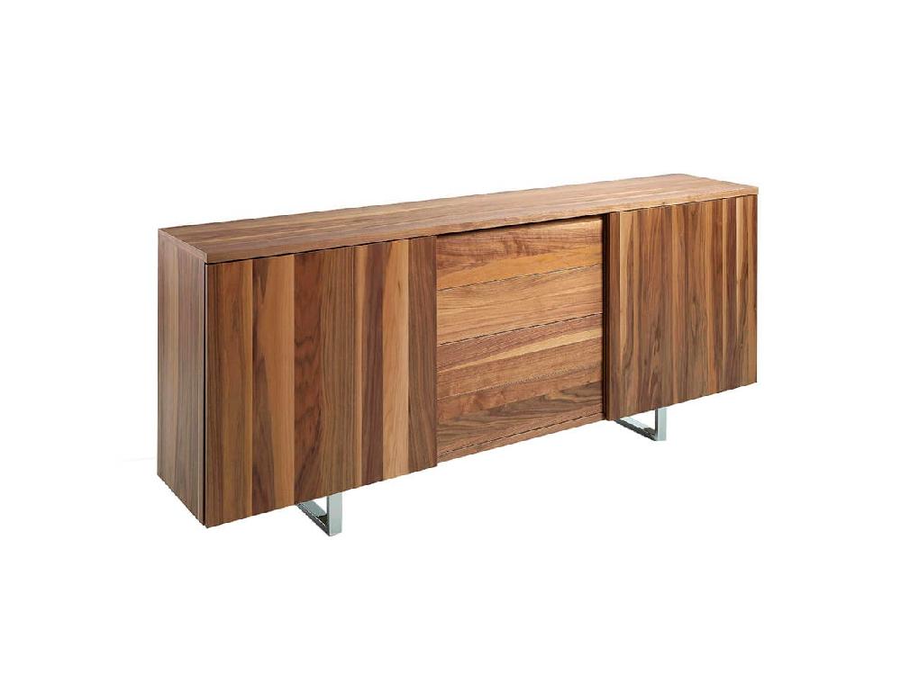 Wooden sideboard with Walnut veneer.