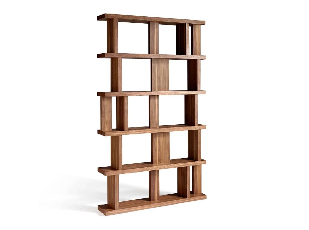 Walnut colored wooden shelf