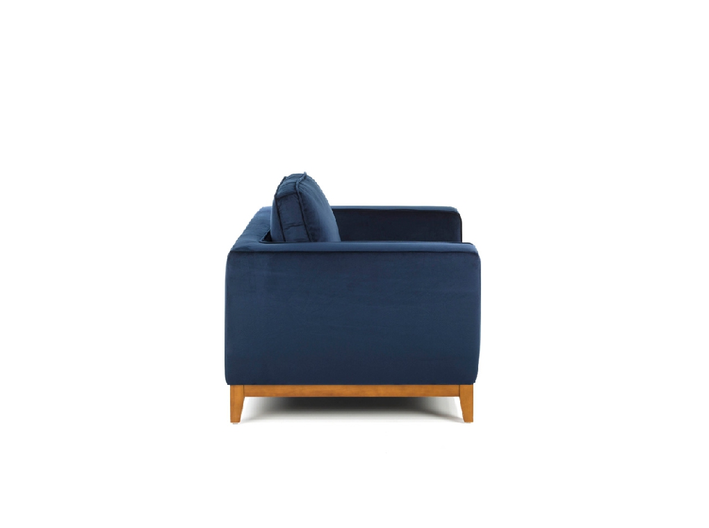 3 seat sofa with legs in wood