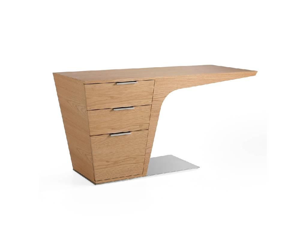 Escritorio de oficina en madera chapada de roble