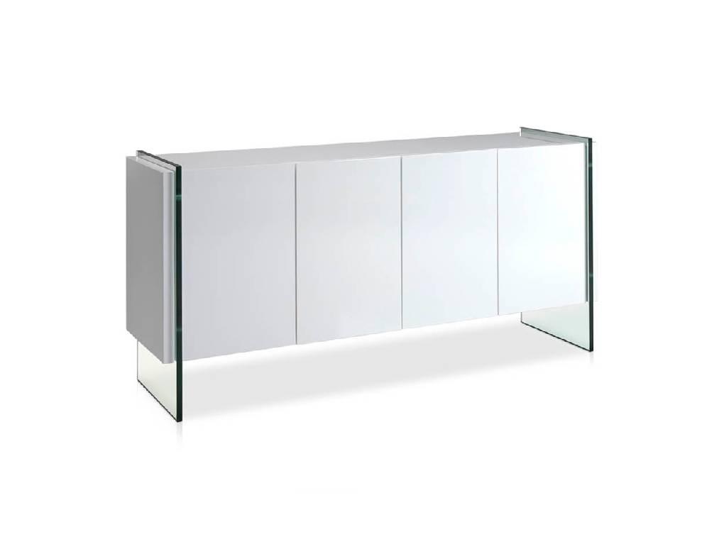 Credenza Con Vetri : Credenza laccato con fianchi in vetro temperato mobili di design